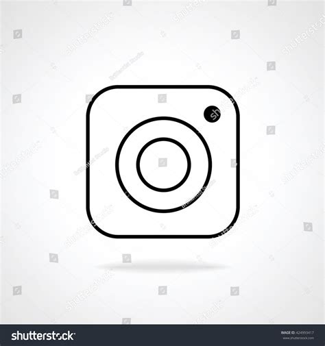 design lines instagram hipster photo camera line icon on background inspired by