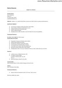 nanny on resume template resumes design