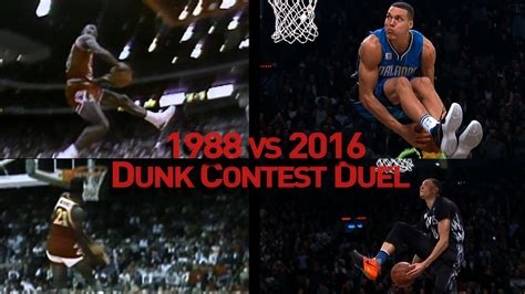 What Is The Difference Between A Contest And A Sweepstakes - nba slam dunk contest duel 1988 vs 2016 youtube