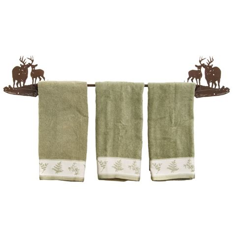 deer bathroom accessories buck and doe deer towel bar and bath accessories