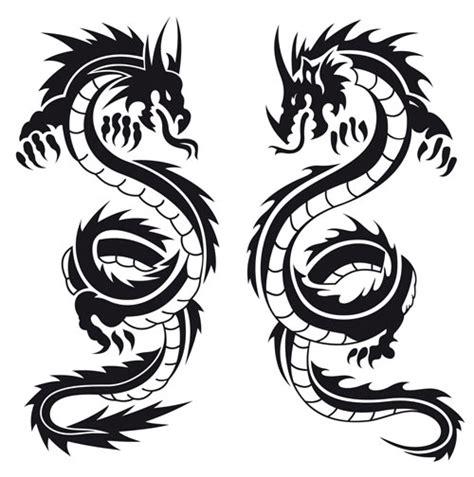 dragon tattoo vector free dragon tattoo template vector vector graphics blog