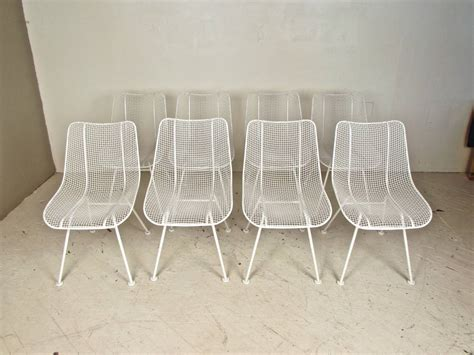 Woodard Furniture by Set Of Eight Wire Mesh Sculptura Chairs By Woodard