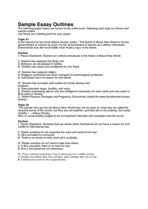 theme essay outline outline of essay exle 3 outlines for help doctoral