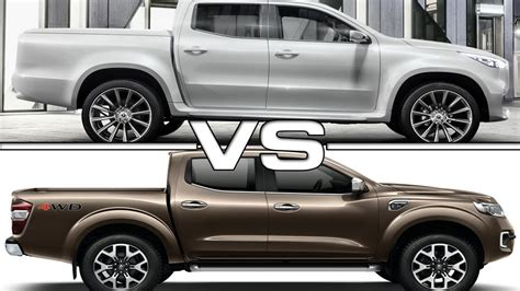 renault alaskan vs nissan navara 2017 mercedes benz x class vs 2017 renault alaskan youtube