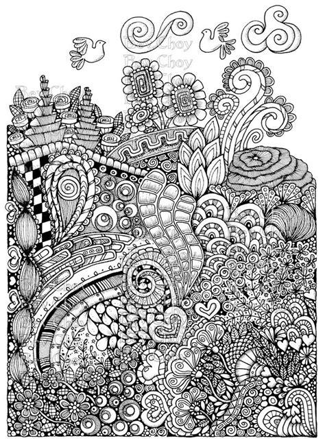 adult coloring page path  bevchoyart  etsy