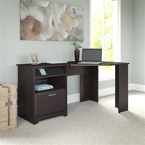 bush furniture cabot corner desk bush furniture cabot corner desk in espresso oak wc31815 03