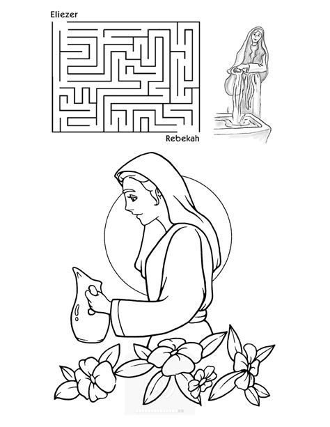 isaak and rebecca coloring pages