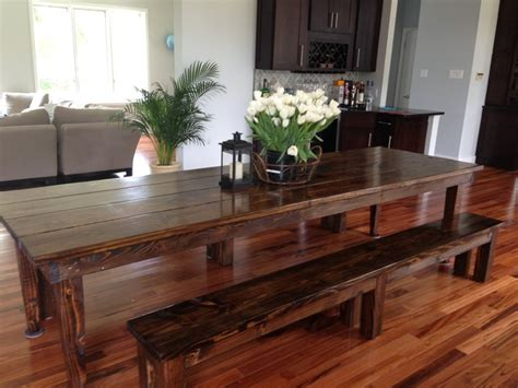 james james 10 farmhouse table in dark walnut with