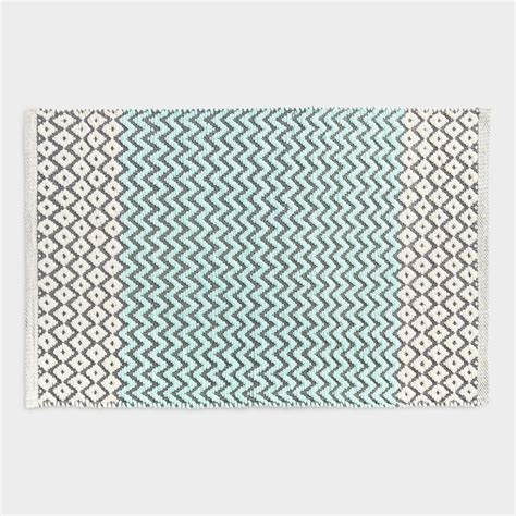 chevron bath rugs aqua chenille chevron and bath mat world market