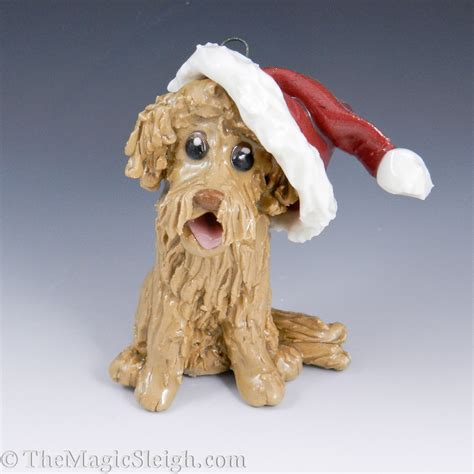 goldendoodle ornament goldendoodle ornament with santa hat porcelain original
