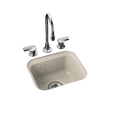 kohler undermount prep sink shop kohler northland single basin undermount enameled