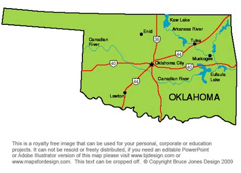 map oklahoma state oklahoma state map printable printable maps