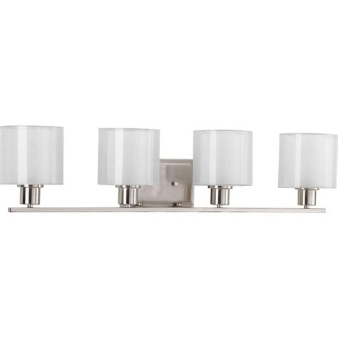 progress lighting bath match collection 5 light brushed progress lighting invite collection 4 light brushed nickel