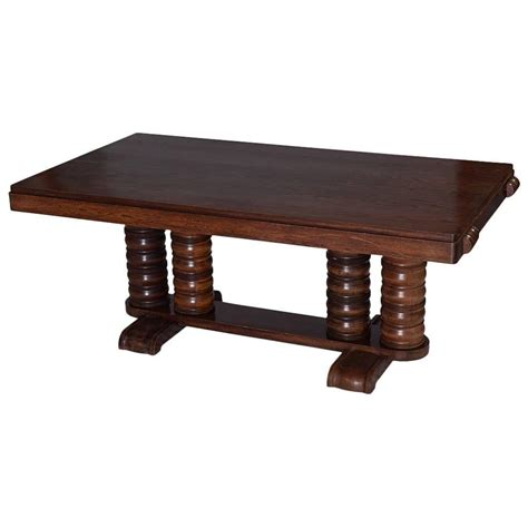 gaston poisson mahogany deco dining table 1940s for