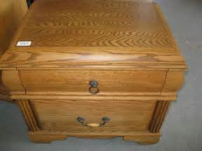 X Home Auction by Lot 395a Blackhawk Oak Night Stand
