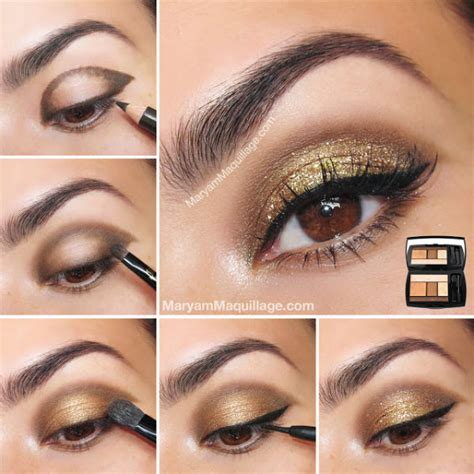 Eyeshadow Golden gold glitter eye shadow pictures photos and images for