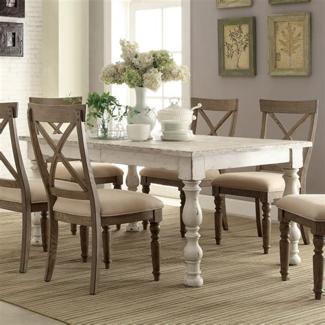 white wood dining room table aberdeen wood rectangular dining table only in weathered