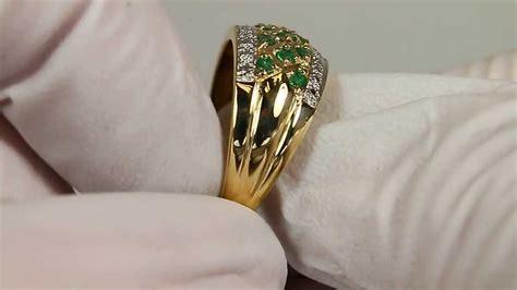 cadena de oro blanco colombia anillo de oro esmeralda y diamante colombiano youtube