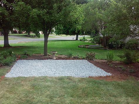 gravel foundation recommended   storage sheds  jpeg fire pit gravel base