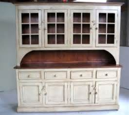Kitchen Buffet And Hutch Furniture by Country Style White Kitchen Hutch Ecustomfinishes