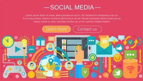 design header social media modern flat design social media concept social media