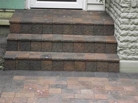 How To Make A Patio With Pavers How To Build Outdoor Steps With Pavers Modern Patio Outdoor