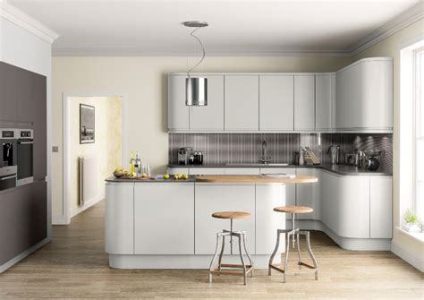 Open Kitchen Cupboard Ideas matt kitchen light grey kitchenfindr kitchenfindr co uk