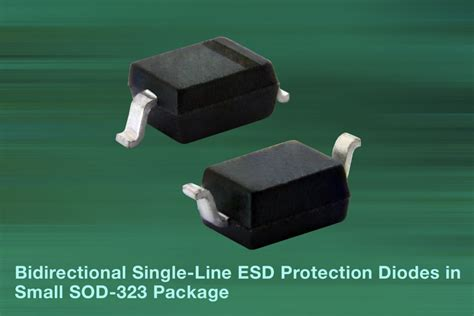 esd protection diode automotive vishay new vlin1626 02g and vlin2626 02g bidirectional single line esd protection diodes in