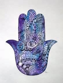 watercolor art zentangle watercolor hamsa hand hand