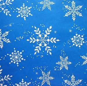 blue gift wrapping paper vintage white snowflakes on blue wrapping paper