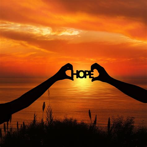 wallpaper hope silhouette sunset hands hd