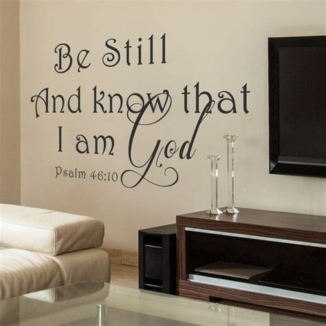 Dining Room Vinyl Wall Be Still And That I Am God Vinyl Wall Decal Dining Room