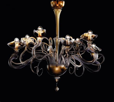 Murano Glass Chandelier Modern Modern Murano Glass Chandelier With Clear Violet And Gold Leaf Dmarial8k Murano Imports