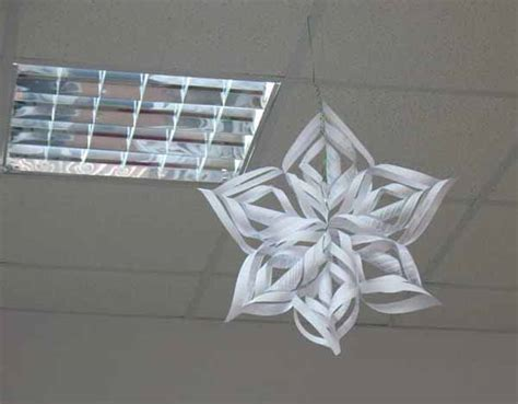 Winter Paper Crafts For - recycling paper and snowflakes winter craft ideas