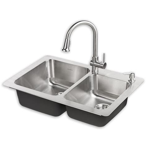 kitchen sink picture montvale 33 x 22 kitchen sink with faucet american standard