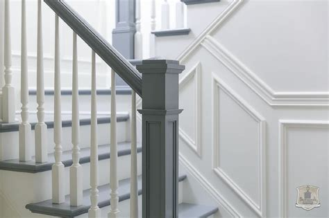 White Stair Handrail White Staircase Spindles Design Ideas