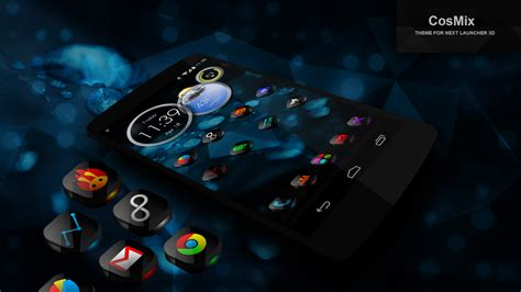 next launcher theme black 3d next launcher theme cosmix 3d android apps on google play