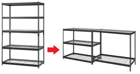 edsal industrial shelving edsal mrop3618w5b steel storage rack 5 adjustable shelves