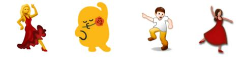 dancing emoji what the emoji you re sending actually look like to your