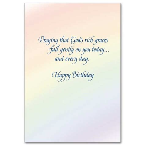 bible text with the blessings showers of blessings birthday card