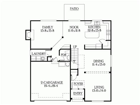One Story Floor Plans With Bonus Room by Eplans Craftsman House Plan Compact Footprint With No