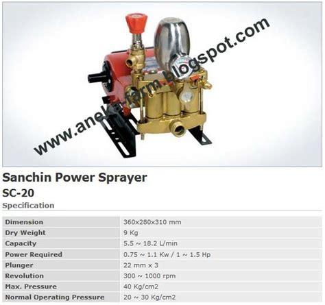 Timbangan Prohex aneka farm sanchin power sprayer sc 20