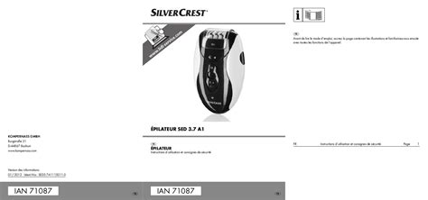 sed manual mode d emploi silvercrest sed 3 7 a1 trouver une