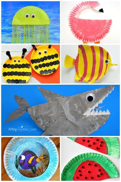 How To Make Sea Animals Out Of Paper - 30 and easy summer paper plate crafts for