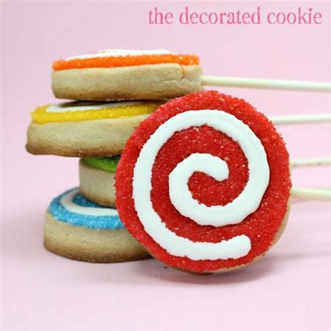 The Decorated Cookie by Rainbow Swirly Cookie Pops And The Best Cut Out Cookie Recipe