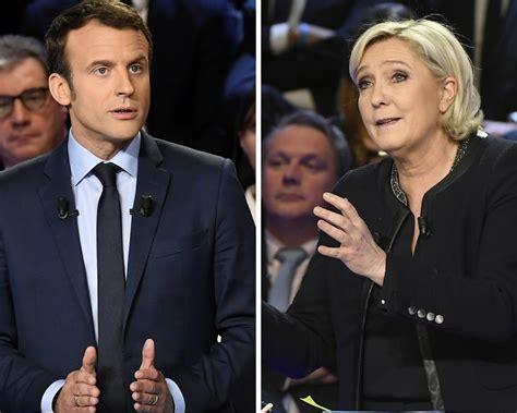 emmanuel macron marine le pen emmanuel macron and marine le pen clash in fiery debate as