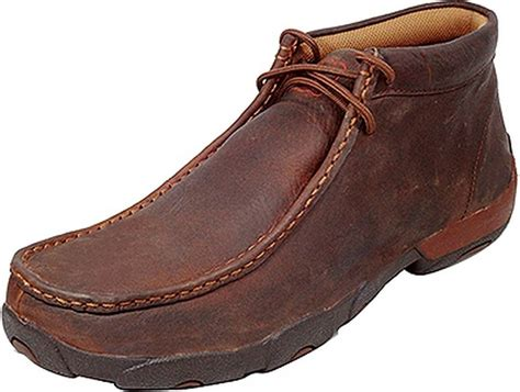 twisted x casual shoes mens leather driving moccasin