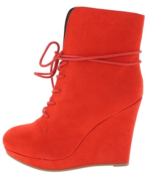 Boots Wedges 88 val09 tangerine foldover wedge boots from 12 88 27 88