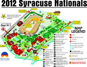 Ny State Fair Map by Syracuse Nationals Area Map