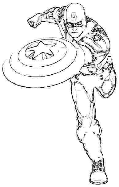 16 printable captain america coloring pages print color